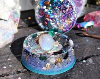 Orgonite® - Jewelry Box - Proposal -Trinket Box - Handmade - Orgone Generator® - Engagement - Crystals - Gift - EMF Protection - HoodXHippie