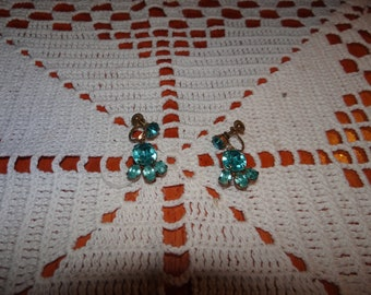 Vintage Screw Back Earrings... Paw Print Style