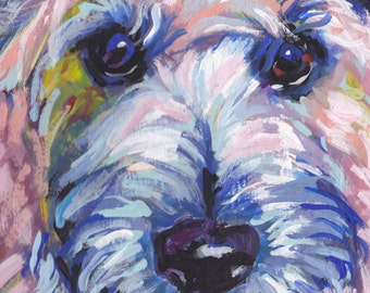 Cairn Terrier modern Dog art print pop art painting bright colors 12x12 inch