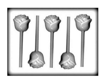 Rose Hard Candy Sucker Molds - Soap Baking Candy Making Party Supplies