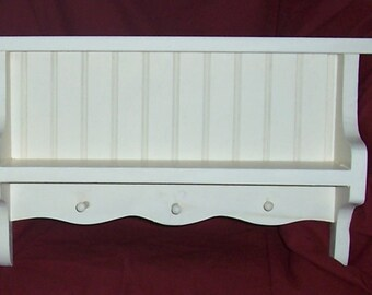 Shelf, wooden, shabby chic,  french country, english cottage, beachy, buttermilk