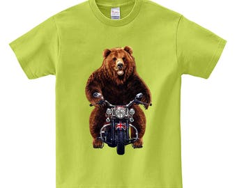 Grizzly bear shirt etsy more colors biker grizzly bear publicscrutiny Gallery