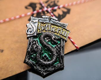 Harry Potter Inspired Slytherin pin- Badge- Brooch