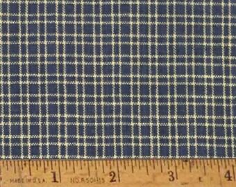"Heritage Blue 1 Homespun Cotton Fabric (Full Yard 36"" x 44"")"