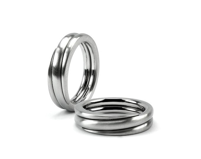 Ring Stainless Steel Mens Swirl Wedding Band