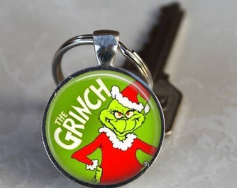 The GRINCH Who Stole Christmas Keyring  Stocking Stuffer Charm Christmas Gift Keychain