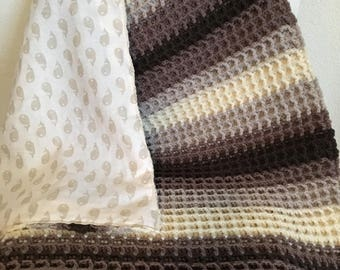 Chocolate baby blanket