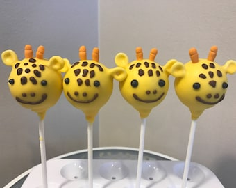 Giraffe Cake Pop | Animal Theme Cake Pops