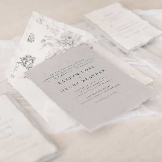 Wedding Invitation Minimalist Wedding Invitation Modern