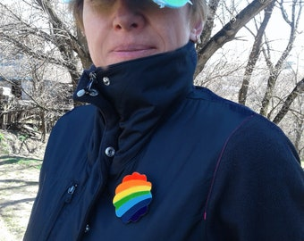 Gay pride badge Transgender pin Rainbow symbol LGBT flag