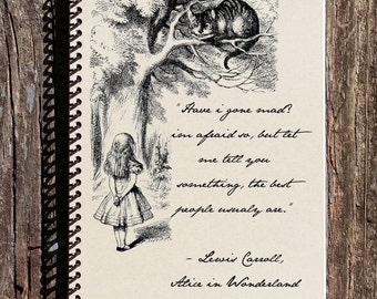 Alice in Wonderland Journal - Alice in Wonderland Notebooks - Am I Going Mad