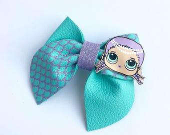 Mermaid LOL doll bow