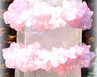 Love Stone ( Rose quartz) Bracelet