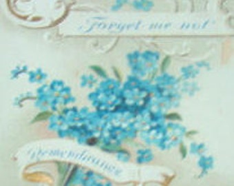 SALE Pretty Floral Postcard (Forget Me Not) Remembrance