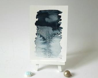 Moderne abstrakte Kunst, Aquarell, Aquarell, Silber Aquarell Kunst, Wand-Dekor, original-Artworks, Schreibtisch Dekor, Wand-Kunst