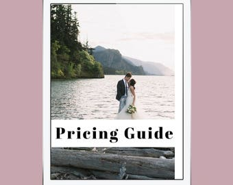Wedding Pricing Guide PDF, Customizable Template