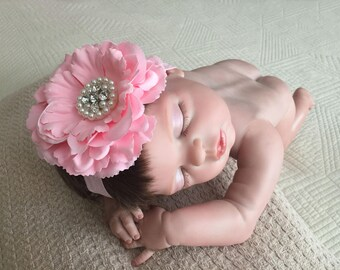 Baby Head Band, Baby Hair Bow, Toddler Headband, Little Girl Headband, Infant Headband, Baby Gift, Baby Prop Photography.