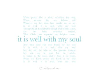 It Is Well With My Soul . Hymn . Frame-able Art Print