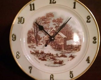 Cottage In The Woods Clock Plate -