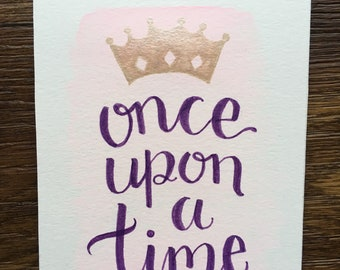 Once Upon A Time - original watercolor 5x7