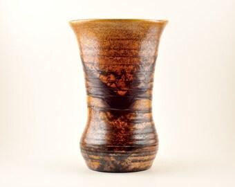 Vintage Brown Clay Vase