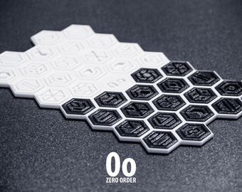 Zero Order | Flat-packed 3D Printed Abstract Strategy Board Game