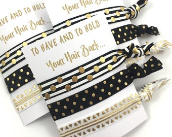 Bachelorette Party Favors   Hair Tie Favor   Will You Be My Bridesmaid   Bridesmaid Proposal   Help Me Tie The Knot   Bachelorette Hair Tie