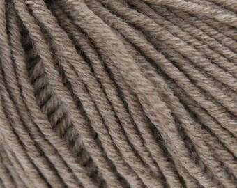 Grignasco Knits Merinogold DK Yarn, 100% Extra Fine New Merino Wool, Discontinued, Color - 101/Light Brown