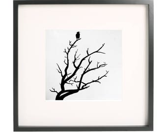 A predator and a dead tree Print Ink Painting Print Abstract Art Print Wall Art Living Room Decor Wall Decor Unframed