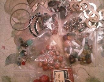 Lot Destash Beads Metal Parts Jewelry Making Assemblage