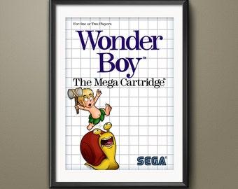 Wonderboy Sega Master System Cover Art