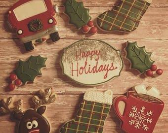 Vintage Christmas Cookies - 2 Dozen