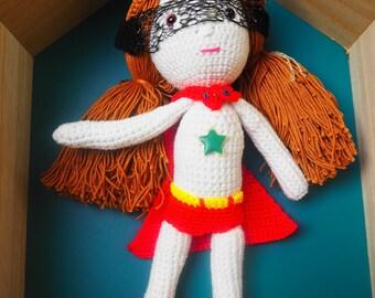 Crochet Super Girl doll