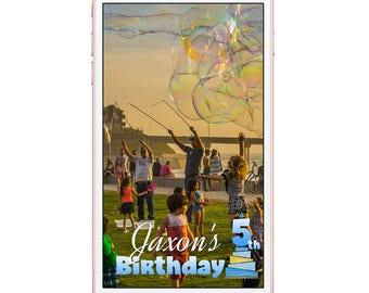 Happy Birthday Snapchat Filter Bubbly Birthday Snap Chat Filter, Boy's Birthday Geofilter, Snapchat Geofilter Kids Birthday, Custom Snapchat