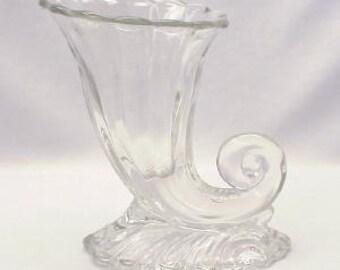 Heisey Horn of Plenty in Warwick Patternin Clear Crystal