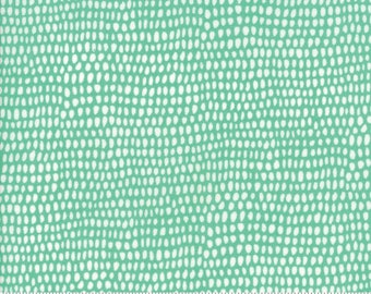 Moda Annie Brady Big Sky Dot Azure Teal Cream Fabric BTY 16706-14