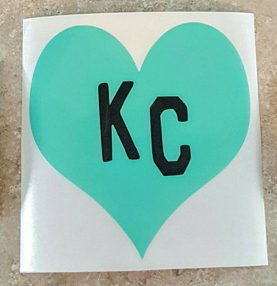 Kc heart car decal kc heart car sticker kansas city heart