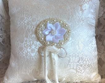 """CLEARANCE!  Wedding Ring Pillow - """"Duchess"""""""
