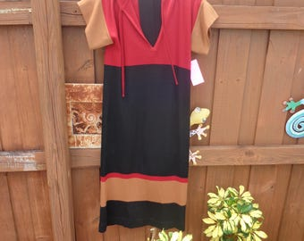VINTAGE 1970's Multicolor 100% Wool Dress by G - (available)