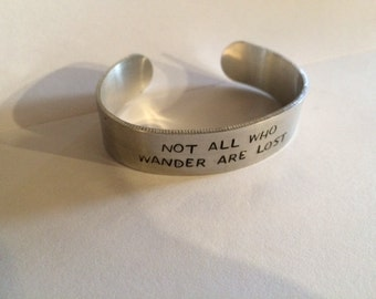 Not all who wander bracelet