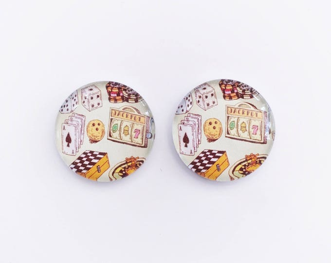 The 'Casino' Glass Earring Studs