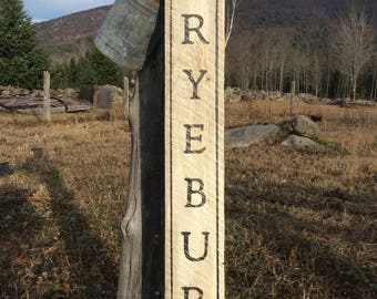 Fryeburg hemlock wood sign