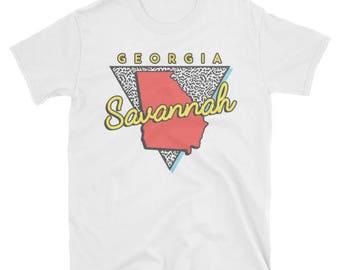 Savannah Georgia T Shirt Vintage GA Arch