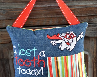 Lost a Tooth Fairy Pillow-Super Hero