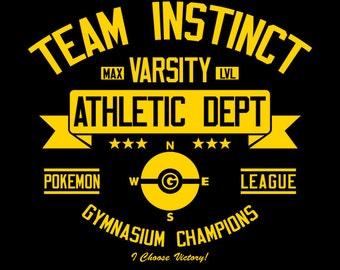 Team Instinct Athletics Dept. - Men's Unisex T-Shirt - AR Pokemon Gaming Parody Clothing