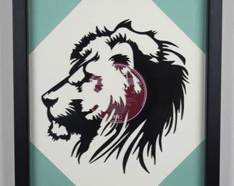 Lions Head, Vinyl LP Wall Art