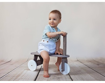 Wooden bike, tricycle, ride toy on wheels photo props,baby child toddler photo props,for outdoor photo shoots,photo prop,Bike Photography