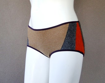 Handmade underwear, cashmere panties, gift for her