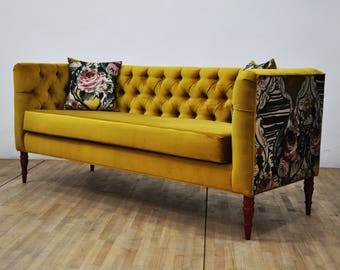 "Loveseat - yellow love ""3 seater sofa"""
