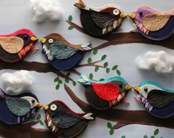 EcoFriendly Birdie Coin Purse, Bird Coin Purse Featured in Woman's Day Magazine